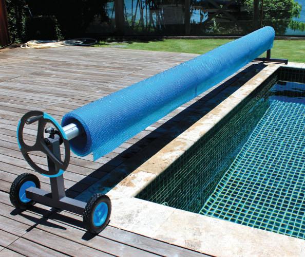 Alux Aluminium T Frame Swimming Pool Cover Reel