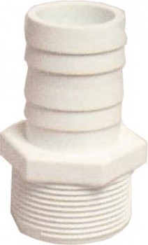Certikin Male Threaded Hosetail - White ABS Pipework (1.5inch) Pack of 10