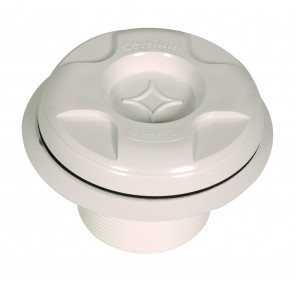 Certikin Vac Point with plug (shown with plug fitted, included back nut not shown) for panel pools HD20PL